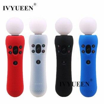 IVYUEEN для PlayStation PS VR Move контроллер движения Противоскользящий силиконовый резиновый защитный чехол для кожи черный синий красный
