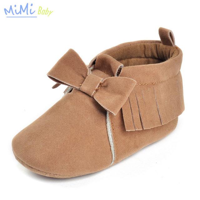 Nuevos Hombres y Mujeres de La Borla de Bebé de Algodón Del Bebé Multicolor Zapatos Inferior suave 0-1 Años de Edad Del Niño Del Bebé Zapatos Primeros Caminante