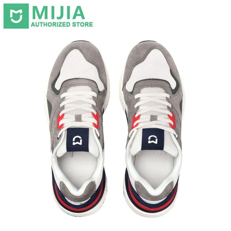 2019 chegada nova xiaomi mijia retro tênis sapatos de corrida dos homens esportes couro genuíno durável respirável para o esporte ao ar livre