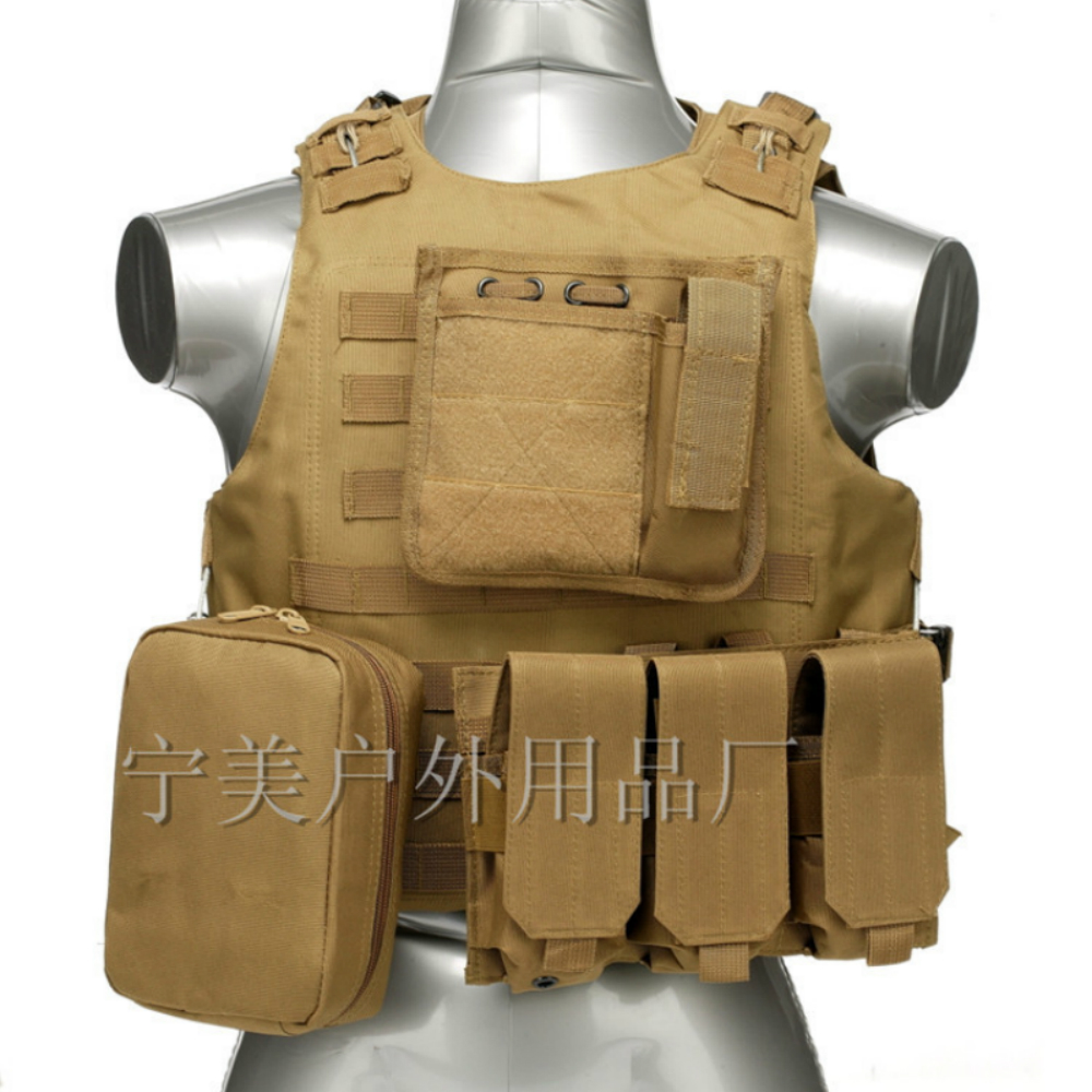 Camouflage Hunting Military Tactical Vest Wargame Body Molle Armor Hunting Vest CS Outdoor Jungle Equipment Combat Assault Plate