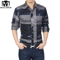 Man Spring 2014 New Brand Dudalina Men Camisas Plaid Casual Mens Shirts Long Sleeves Fashion Man