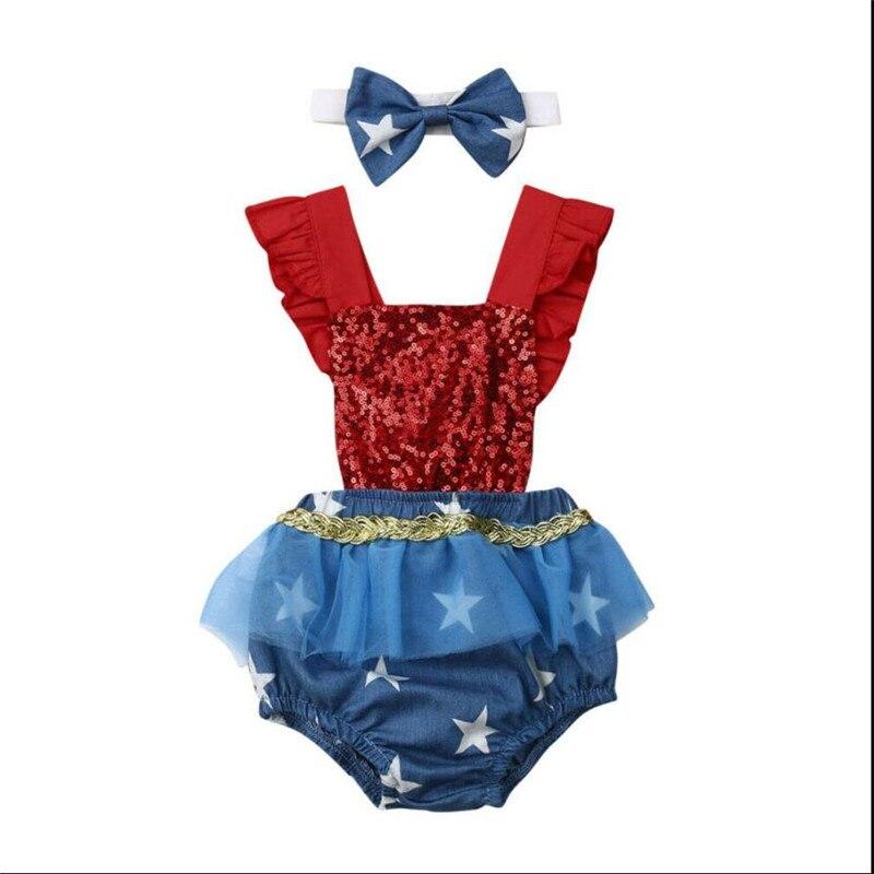 0 3Y Novelty Kids Baby Girl Sets Infant 4th of July