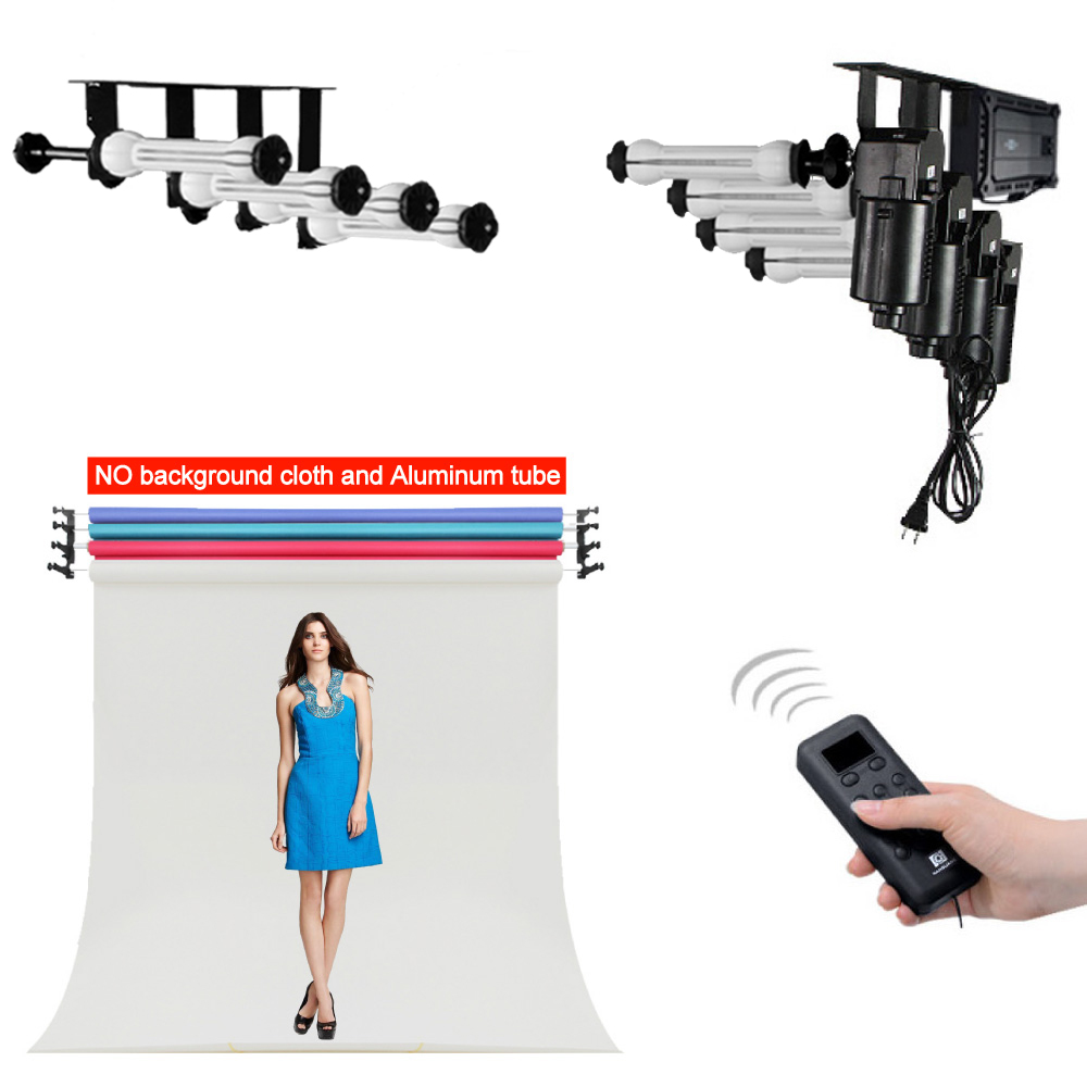 Photo Ptudio Equipment Studio 4 Roller Wall Ceiling Mount Motorized Electric Background Photography Support Stand System  CD50
