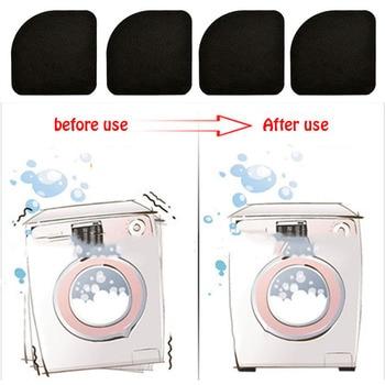 4pcs Almofada de choque multifunções para máquina de lavar roupa 4 pçs / set Geladeira preta Antiderrapante Esteiras anti-vibração Acessórios do banheiro 1