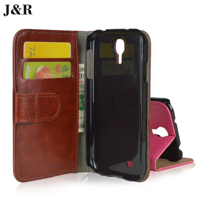 Luxury Flip PU Leather Case Cover For Samsung Galaxy S4 S IV I9500 I9505 I9506 GT-i9500 Wallet Phone Bags Cases With Card Holder
