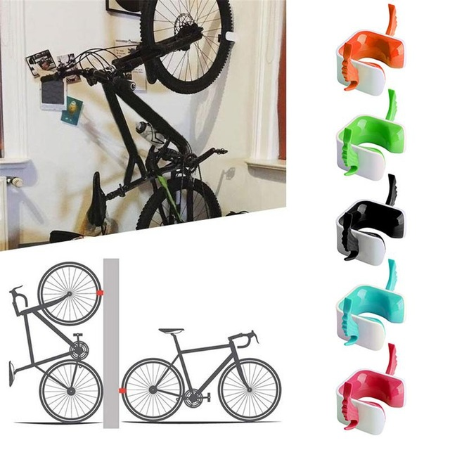 Bicycle Accessories 2 X Vertical Wall Mounted Mountable Cycle Storage Hook Bike Rack Stand Holder Q1106*20 Discounts Price