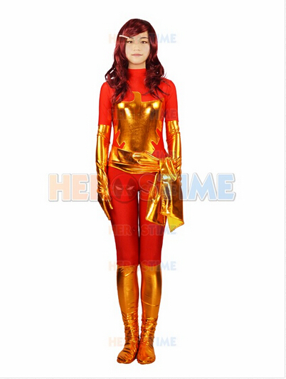Red X-men Costume halloween cosplay Dark Phoenix Superhero costume show zentai suit free shipping