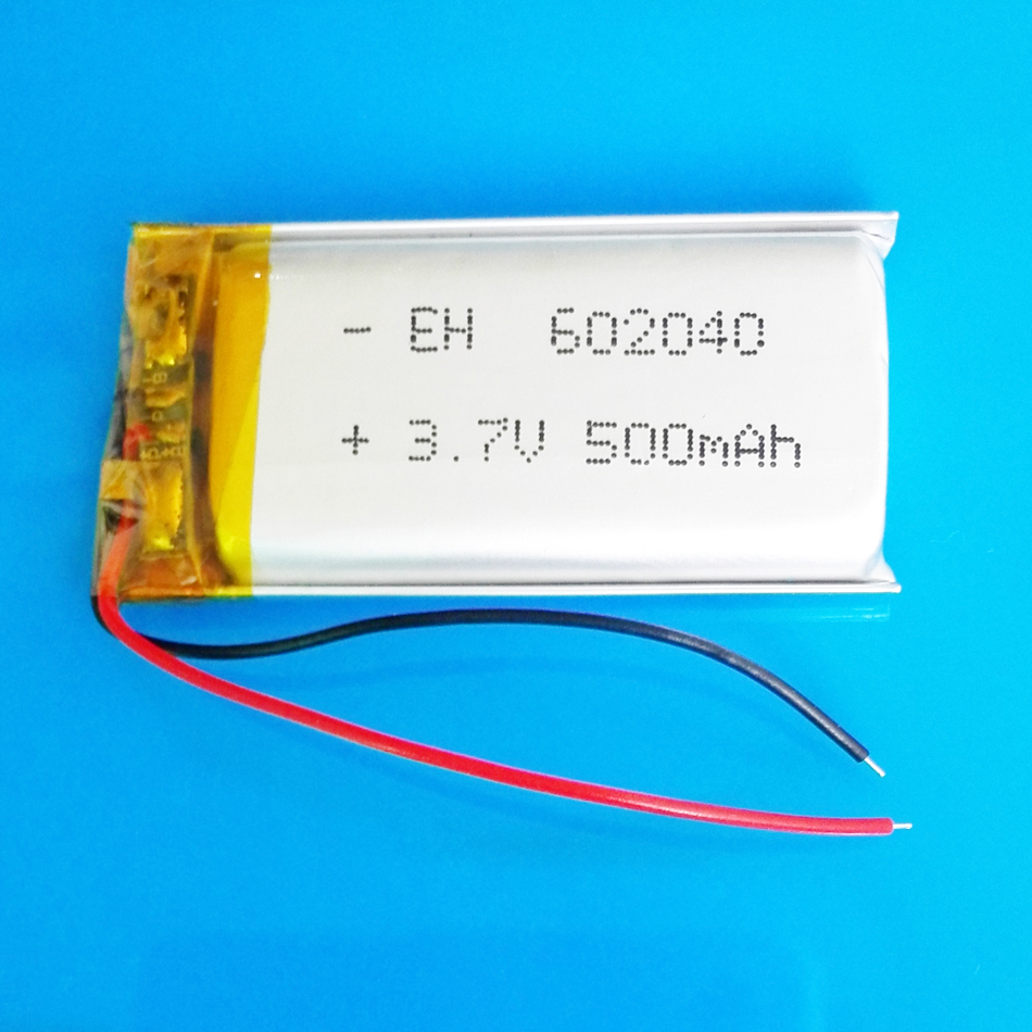 3.7V 500mAh lipo rechargeable battery polymer lithium cells for MP3 MP4 GPS DVD PSP bluetooth recorder e-book camera 602040