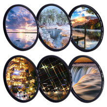 KnightX FLD UV CPL polarizing ND Star line Filter Camera Lens Filter For canon eos sony nikon 52mm 55mm 58mm 67mm colse up Macro camera accessories for gopro hero5 hero 5 52mm 8 in 1 lens filter cpl uv nd8 nd2 star 8 red yellow fld purple
