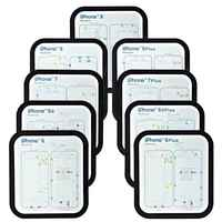 12PC Professionale Guida Pad per il iphone XsMax XR XS X 8P 8 7 7P 6 6s 6p 6sp Vite Magnetica Keeper Tabella di Zerbino Strumenti di Riparazione Del Telefono