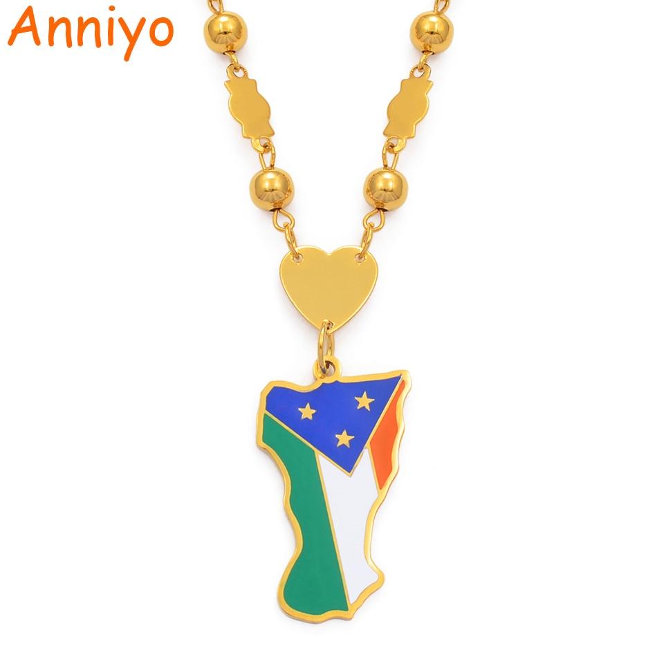 Anniyo Mokil Atoll Flag Pendant Beads Chain Necklaces Women Men,Stainless Steel and Enamel Micronesia Jewelry #077821Anniyo Mokil Atoll Flag Pendant Beads Chain Necklaces Women Men,Stainless Steel and Enamel Micronesia Jewelry #077821