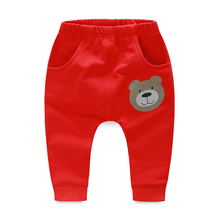 YiErYing  Newborn Pants Cotton Spring and Autumn Cartoon Leisure Printed Infant Cute Baby Trousers
