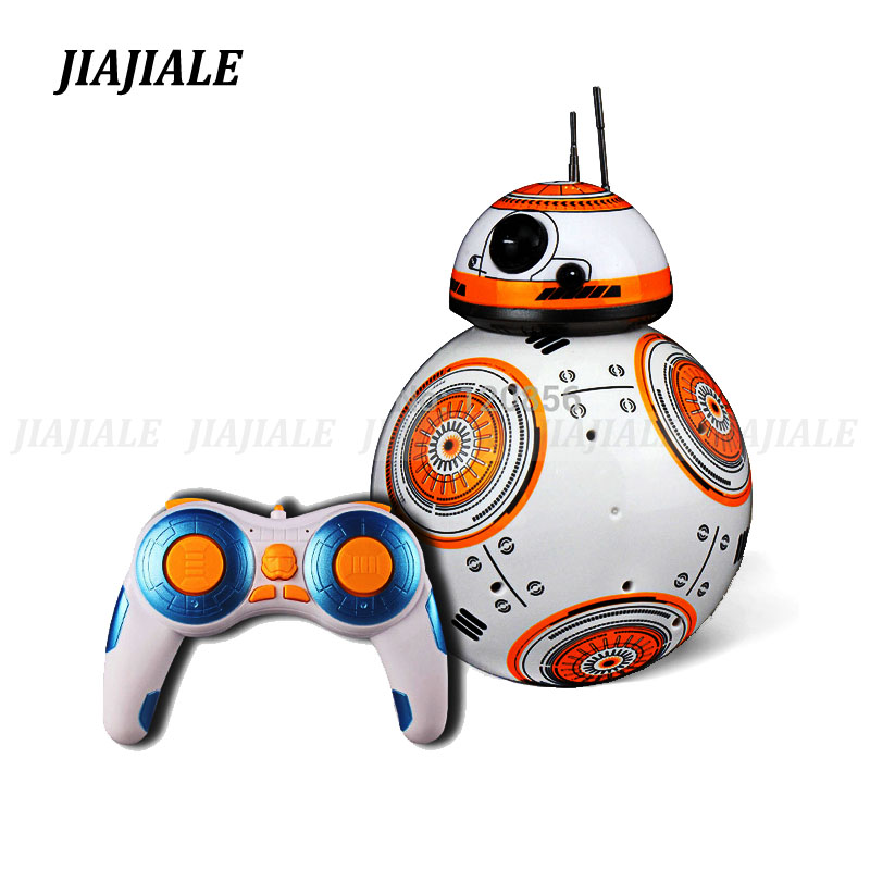 Free shipping 17cm Star Wars RC 2.4G BB Robot upgrade remote control BB robot intelligent with sound RC Ball kid gift boy toy