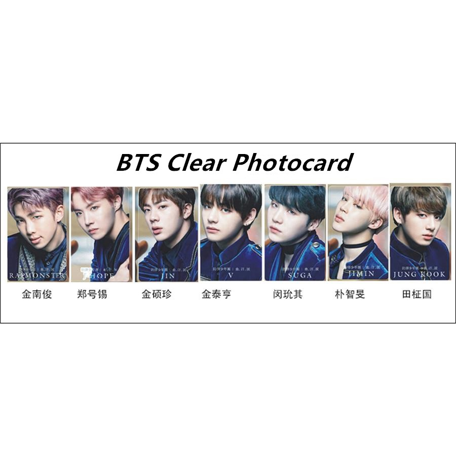 US $1 39 |Kpop BTS Blood Sweat&Tear PVC Clear Photo Card Suga V Jungkook HD  Photocard Bangtan Boys Collective Card 1pc-in Jewelry Findings &