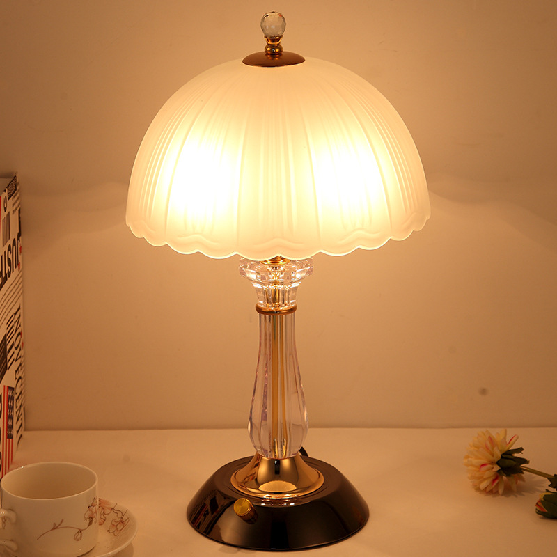 Modern Bedroom Bedside Table Lamp European Warm Light Glass Table Lamp  Living Room Table Light Table Lamps Home Deco|LED Table Lamps|Lights & Lighting - title=