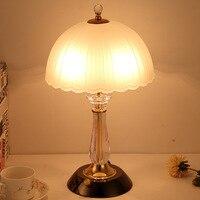 Modern Bedroom Bedside Table Lamp European Warm Light Glass Table Lamp Living Room Table Light Table Lamps Home Deco