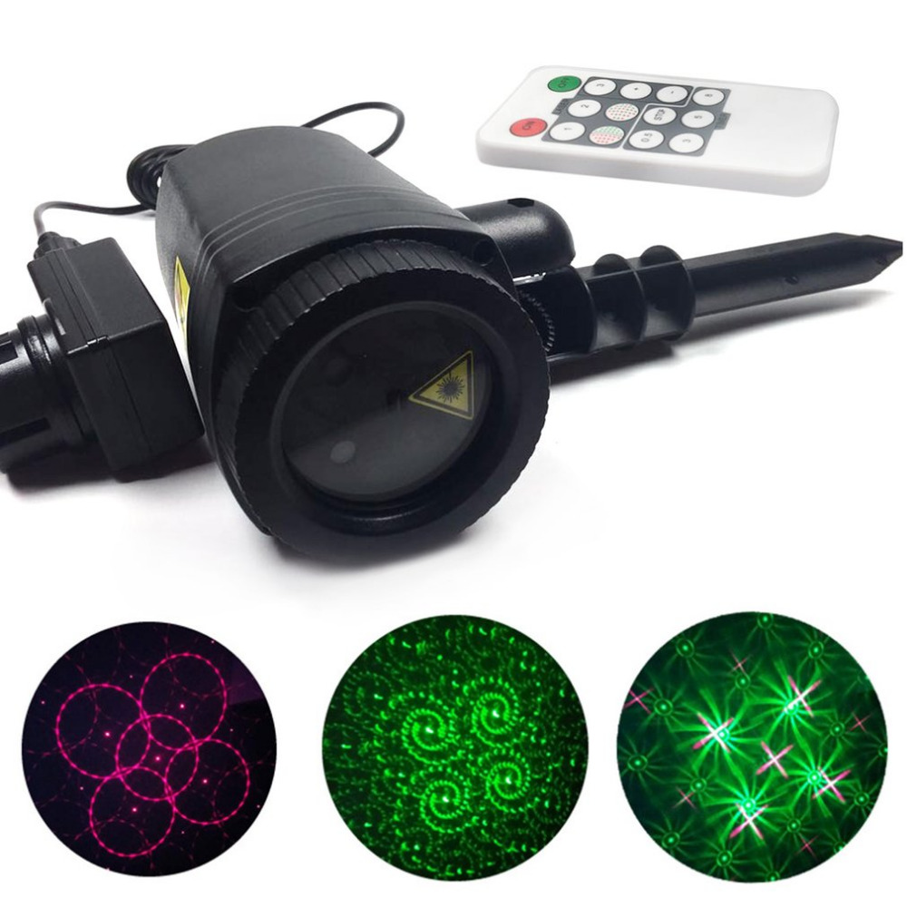 Outdoor LED Lawn Lamp Laser Light Waterproof With Remote Control Party Yard Landscape Spot Light Garden Decorative Lights