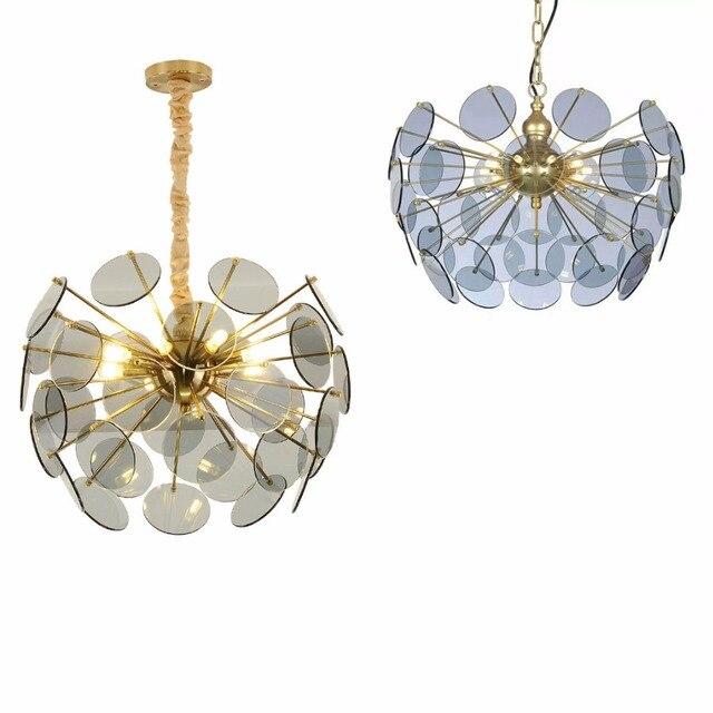 Morden creative 9 head Pendant light E14 3W Toolery glass lampshape LED lamp droplight Living room shop Cafe Bar free EXPRESS