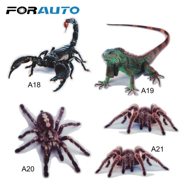 3D Car Sticker Bumper Retrofit Stickers  Spider Lizard Scorpions Simulation Animals Sticker Car Styling Exterior Accessories