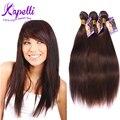 8А Бразильские Волосы Девственницы человеческих волос связки прямые волосы стиль 3 шт. лот № 4 Темно-Русый Бразильский прямые волосы Weave Связки