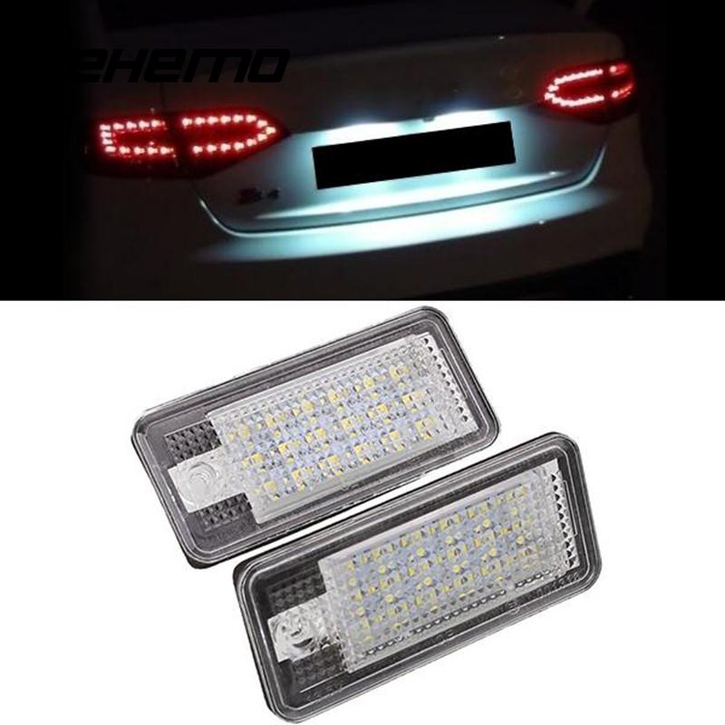 2PCS/Pair Car Styling 12V Auto Car 18LED License Number Plate Lights Daytime Running Light For Audi A3 S3 S4 A4 B6 B7 A6 A8 Q7 smaart v 7 new license