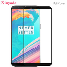 Xinyada Full Cover Tempered Glass For OnePlus 5T One Plus 5T 1+5T Screen protector Guard Lcd Protection Film Coverage