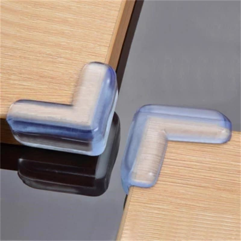 4 PCS/ Lot PVC Soft Transparent Baby Children Kids Safe Bed Table Desk Corner Protection Cover Furniture Accessories