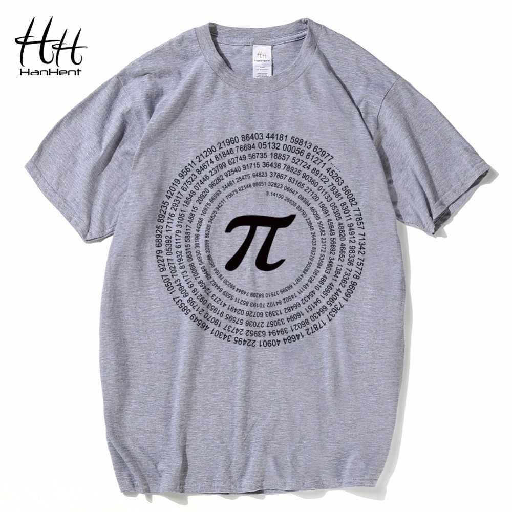 HanHent Новинка Pi Math футболки мужские хлопковые свободные футболки с коротким рукавом Футболка в стиле Geek умная футболка повседневные мужские футболки