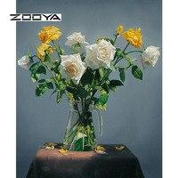 ZOOYA Diamante Pintura Diamante Bordado DIY NOVO Design China Rosas 3D Dimensional Bordado Série Dom Artigos para o Lar SF015