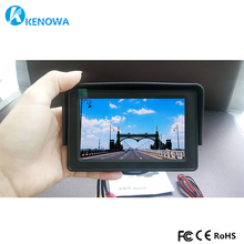 4.3 inch TFT LCD Monitor Car Reverse Parking monitor with 2 video input for Rear view Camera DVD