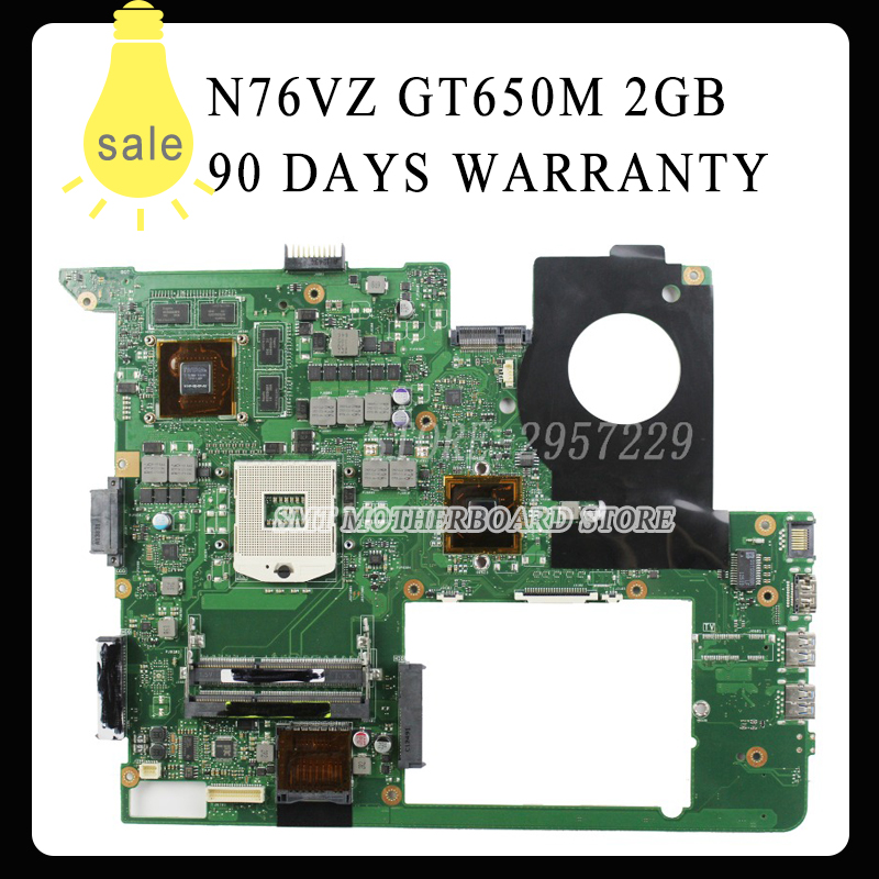 все цены на  For N76VJ N76VB N76VZ N76VM N76V REV:2.2 Laptop Motherboard 2GB USB3.0 N13P-GT-A2 GT650M fully tested & working perfect  онлайн