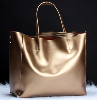 100% Genuine leather bag Shoulder bags tote Bag female Retro Vintage Fashion Messenger Bag Designer Brand Women Handbags