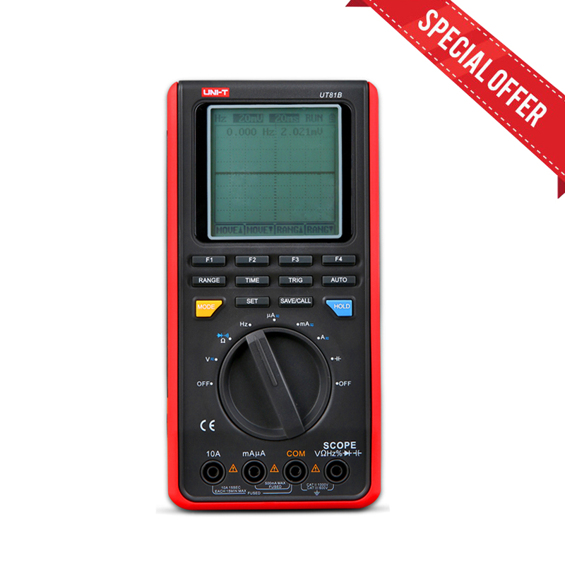 UNI T LCD Handheld Digital Multimeter UT 81B w USB LCD Meter Tester Oscilloscope Free Sshipping