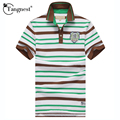 TANGNEST 2017 New Fashion Design Men polo Shirts Casual Striped Regular Colorful Breathable Slim Fit Men Tops MTP324
