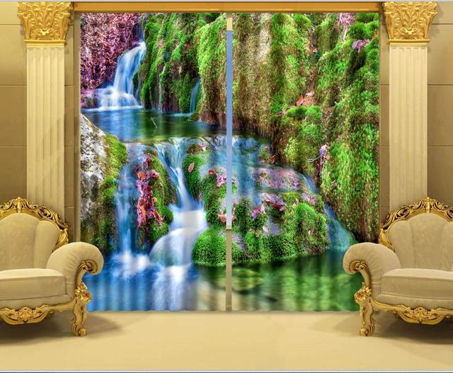 Vorhang Fotodruck foto druck stereoskopische 3d vorhänge vorhang stoffe druck 3d
