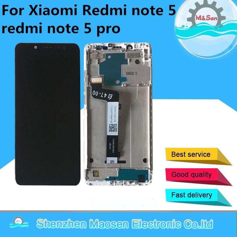 Оригинальный M & Sen для 5,99 Xiaomi redmi note 5 redmi note 5 pro ЖК-экран + сенсорный дигитайзер с рамкой для redmi note 5 lcd