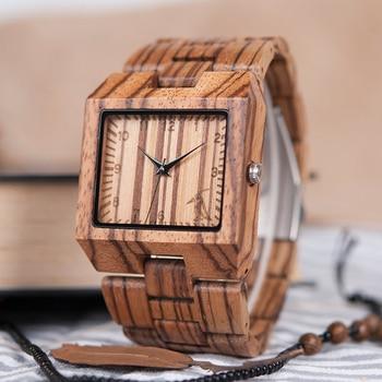 Zegarek drewniany Wooden Square