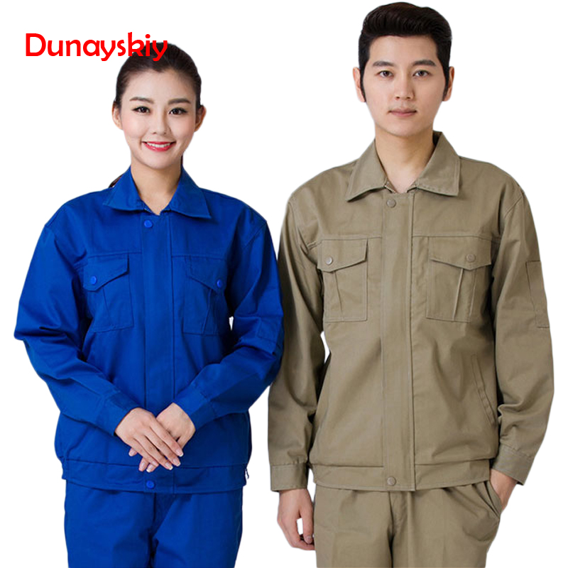 2020 New Fashion Overalls Long-sleeved Labor Insurance Overalls Corporate Tooling Workshop Uniforms Suit And Set Factory Uniform