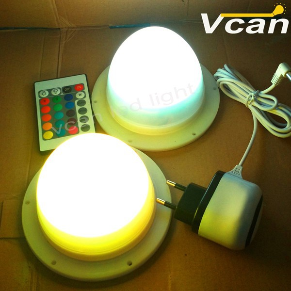 Battery LED Light System colours change blue white flashing remote control For Table Chair VC-L117