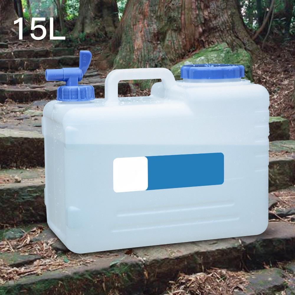 Pokich キャンプ水貯留水キャニスター家庭用飲料バケツ水容器収納用自己駆動 15L
