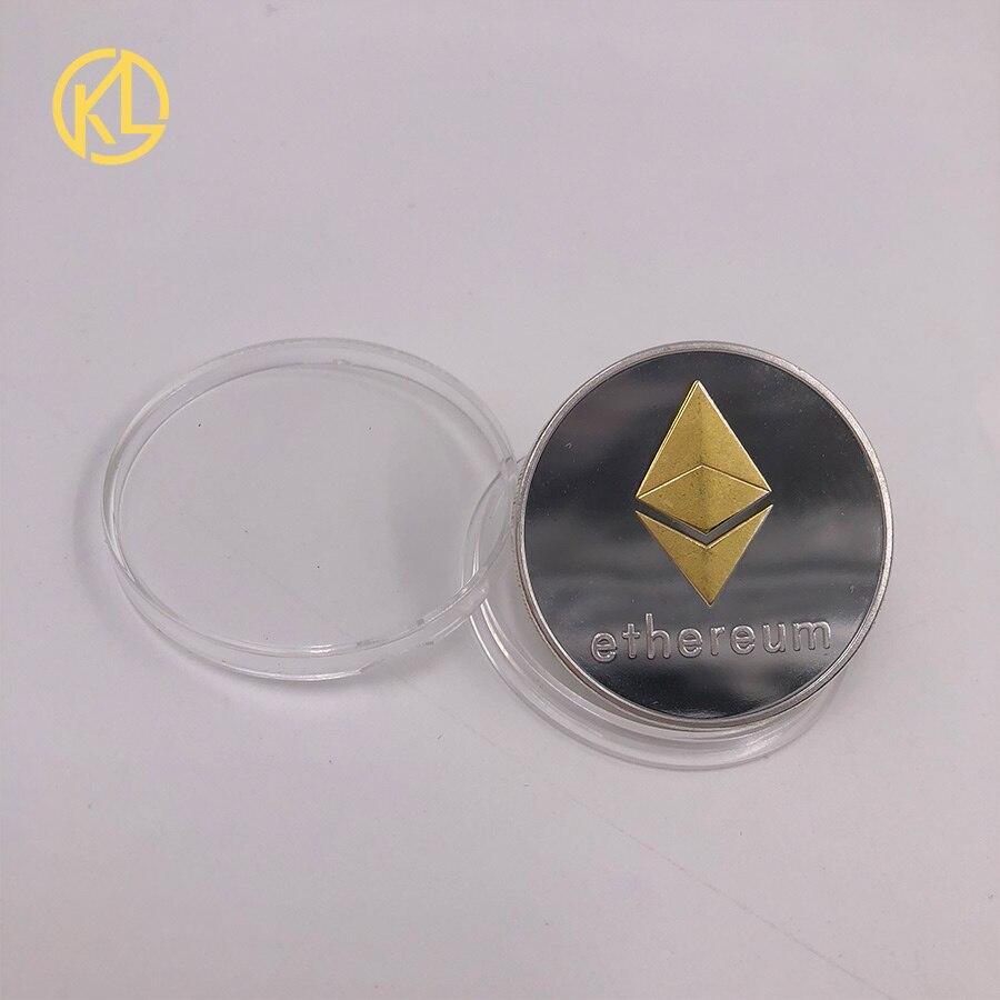 CO012 позолоченный эфириум классическая монета памятная монета художественная коллекция подарок физическая имитация из металла вечерние украшения для дома - Цвет: CO-011-3