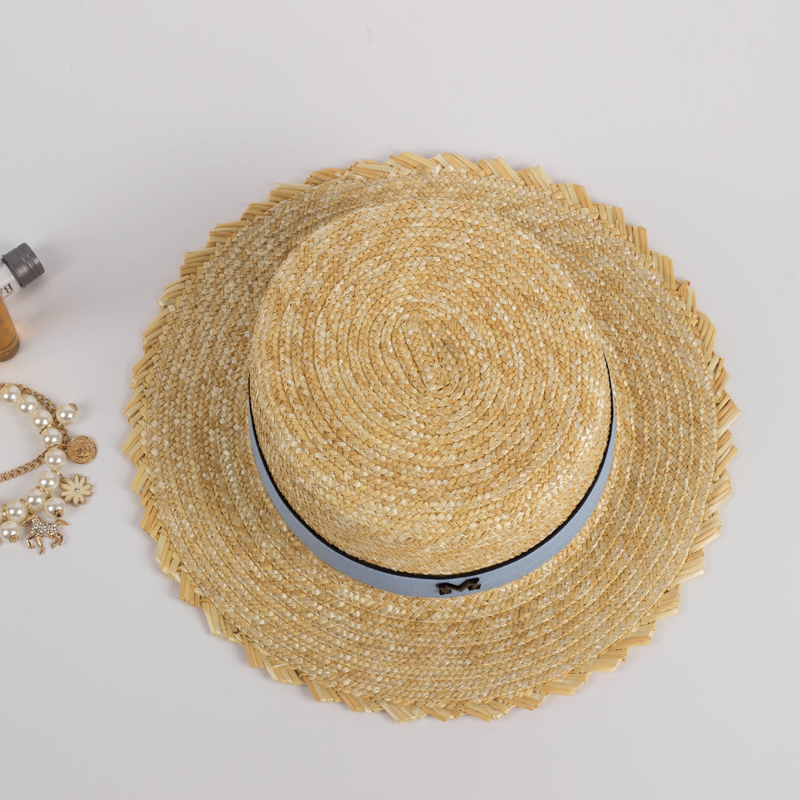 HSS marca mujeres sombreros de verano Sun sombrero de paja plana moda  criadas viajes playa chica vacaciones Inglaterra sombrero Natural en  Sombreros de sol ... e8a37adcc7d