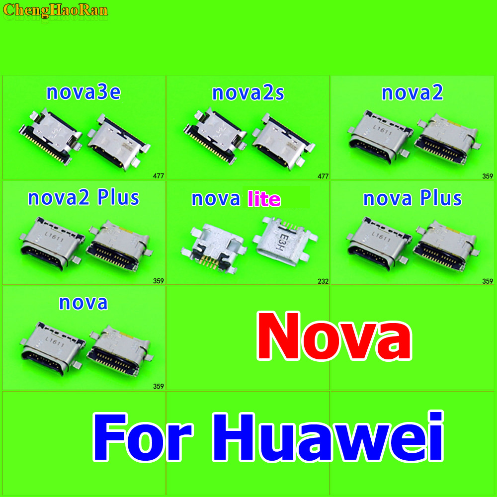 1X Micro USB Charging Dock Connector Socket for Huawei Nova 3e 2S 2 2plus lite Plus Mobile phone replacement repair parts in Mobile Phone Flex Cables from Cellphones Telecommunications
