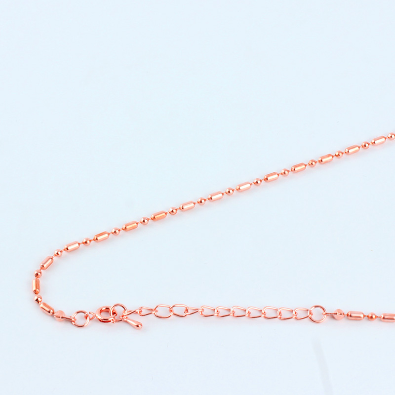 16-40 9 Colors 1:1 Bamboo Ball Beads Necklace Chains Links 1.52.4mm Copper Metal  With Round Clasp 5cm Extender