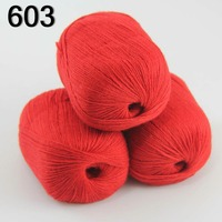 High Quality 100 Pure Cashmere Luxury Warm And Soft Hand Knitting Yarn Red 233 603