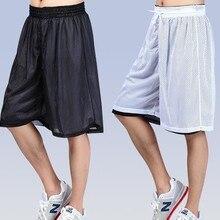 Новинка, летние свободные дышащие двухсторонние баскетбольные шорты для занятий фитнесом, мужские шорты для бега, XS-XXL