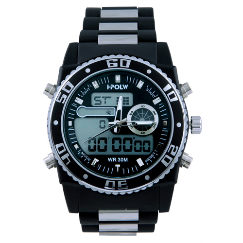 ff49916b1b7 U.S. Polo Assn. Sport Men s US9490 Analog Digital Watch With Black Silicone  Band em Relógios de quartzo de Relógios no AliExpress.com