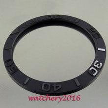 38 мм, новинка, высокое качество, матовый черный керамический ободок, вставные часы, подходят для автоматического перемещения, мужские часы, ободок