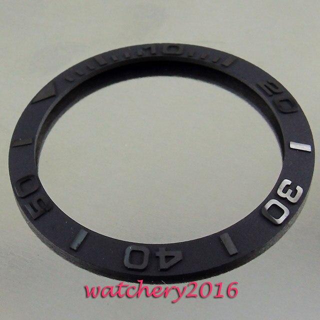 38mm new high quality Brushed black ceramic bezel insert watch fit automatic movement Mens watch bezel