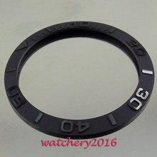 Relógio masculino de cerâmica preto, 38mm novo de alta qualidade, escovado, moldura, inserir relógio, movimento automático, moldura de relógio masculino